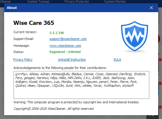 Wise Care 365 Pro 2020 Crack + Patch